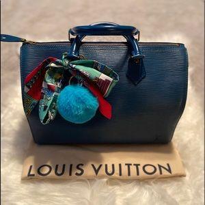 Louis Vuitton Epi speedy 30- Blue